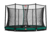 BERG Trampolin InGround Favorit Green 380 + Sicherheitsnetz Comfort